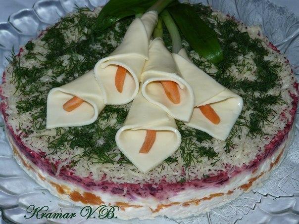 Новогодние слоеные салаты рецепт