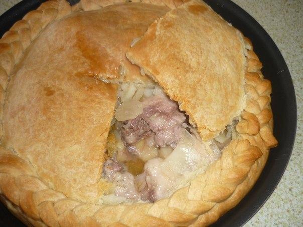 пошаговый рецепт курника с курицей