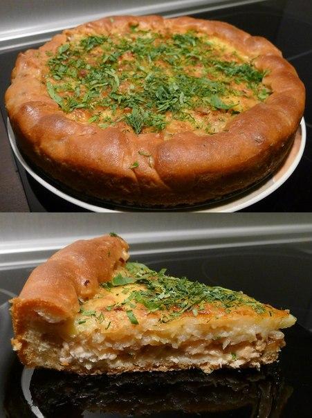 Картофельно рыбный пирог в духовке рецепт
