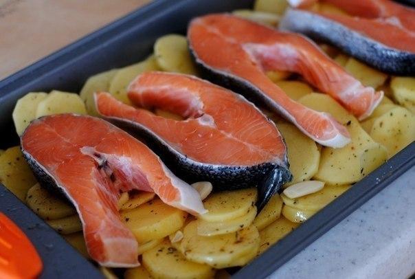 Как приготовить форель в духовке с картошкой рецепты