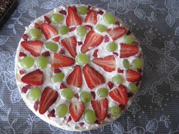 рецепт торта из покупных коржей рецепт с фото пошагово