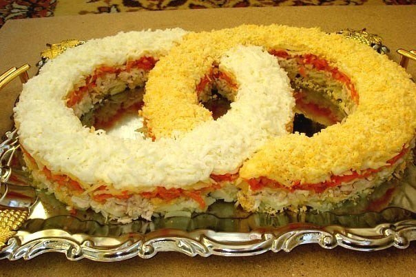 Фото салатов на свадьбу в домашних условиях