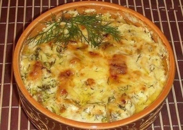 Картошка с курицей в горшочке в духовке рецепт с фото пошагово в