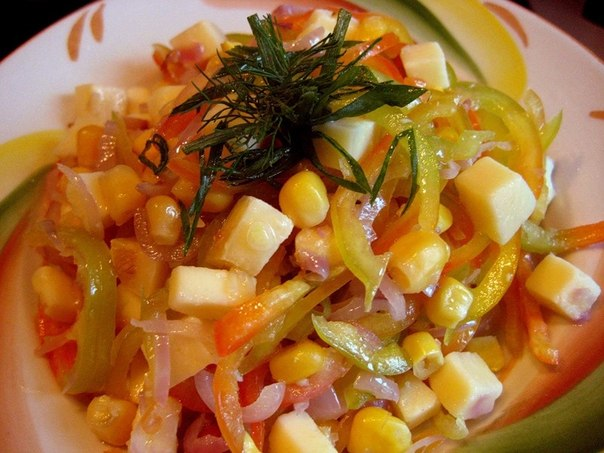 Салаты из кукурузы с перцем
