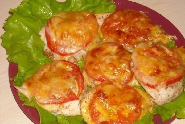 Филе куриное рецепты в духовке с сыром и помидорами
