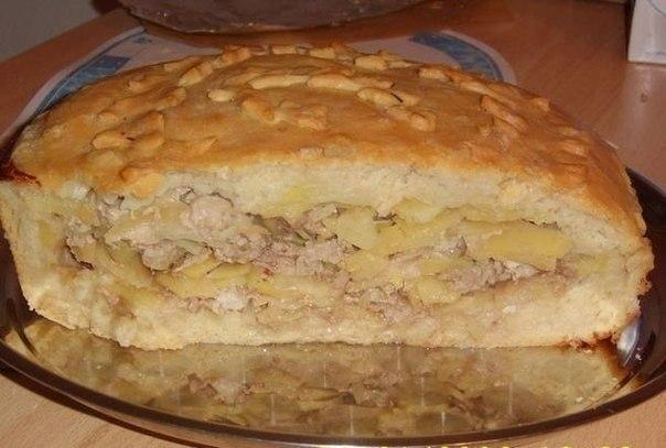 Пирог с мясом и картошкой в мультиварке редмонд рецепты с фото