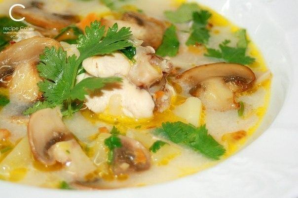Грибной суп из шампиньонов рецепт с курицей с фото пошагово