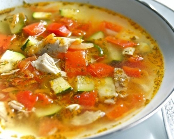 Суп овощнойы с кабачками
