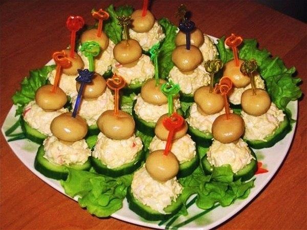 Холодные закуски с грибами рецепты