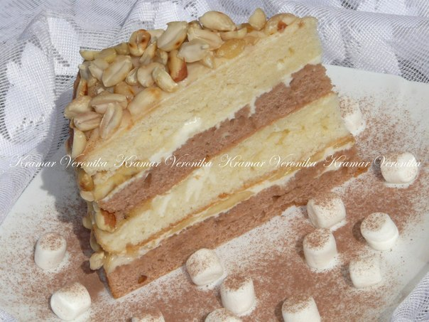 Сметанный торт с бананом рецепт с фото