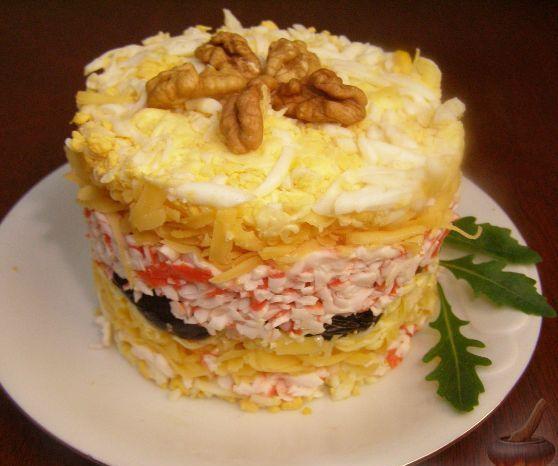Салат жемчужина с черносливом рецепт с фото
