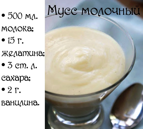 Мусс в стакане рецепт