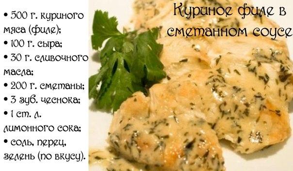 Соус куриное филе рецепты