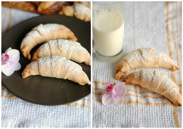 Рогалики кремом рецепт фото